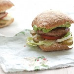 Burger vegan cu ciuperci si rozmarin