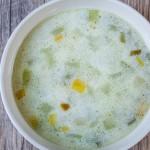 Supa delicioasa de praz si bostanei, cu lapte de cocos