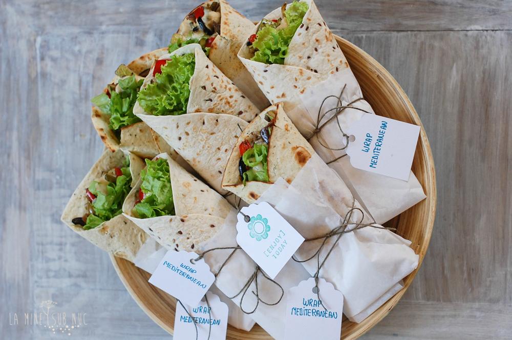 wrap mediteranean vegan