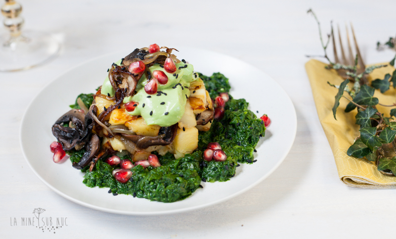 cartofi ciuperci vegan maioneza de avocado de post festiv craciun vegan