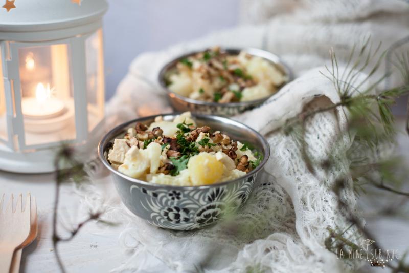 vegan de iarna cartofi tofu salata cu nuci