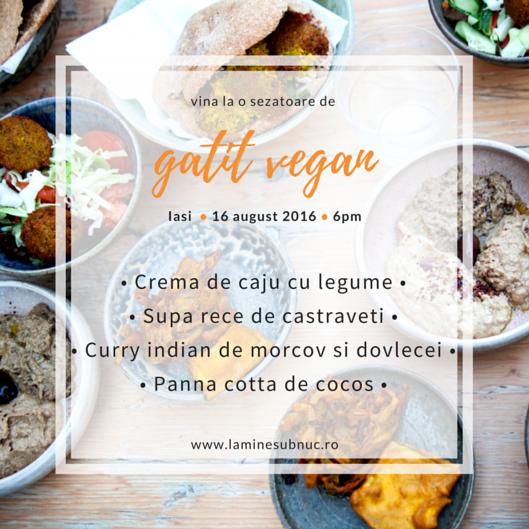 atelier de gatit vegan iasi romania